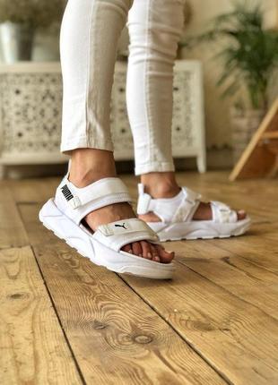 Рuma sandals🆕шикарные женскаяобувь на лето🆕белые легкие сандали пума