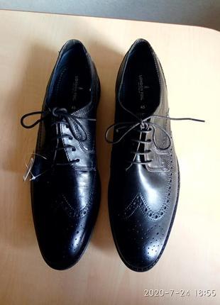 Очень стильные туфли оксфорд, кожаные