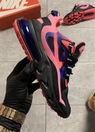 Женские кроссовки nike air max 270 react pink black (розовые)