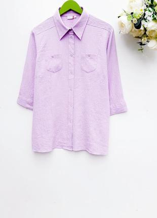 Нежная лавандовая рубашка приятная рубашка