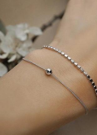 Красивый и нежный браслетик, серебро