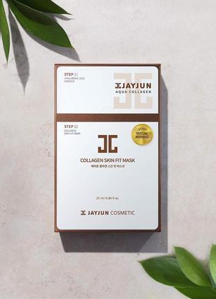 Тканевая маска для упругости кожи лица jayjun collagen skin fit mask