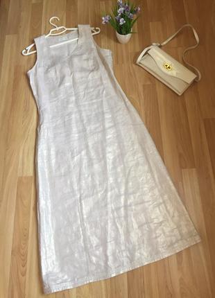 Платье, сарафан лён