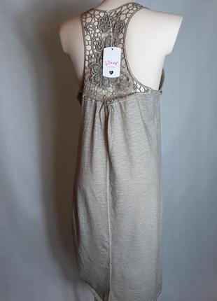 Майка платье с кружевом ришелье