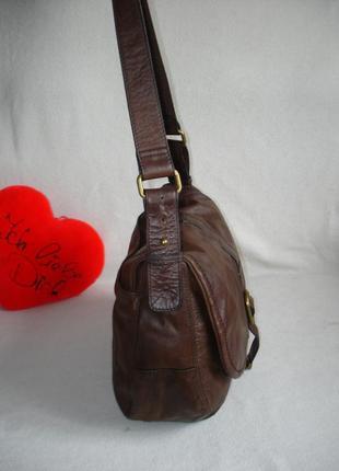 Кожаная стильная сумка бренд autograph