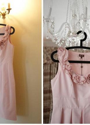 Нарядное шелковое платье / платье для подружки невесты