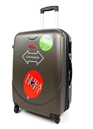 Маленький чемодан на колесах gravitt, серый 40л