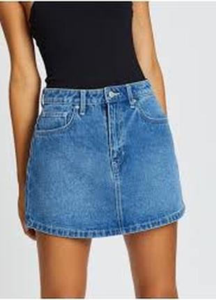 Джинсовая мини юбка lee