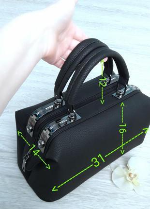 Стильная черная сумка7 фото