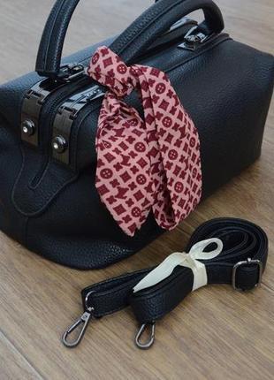 Стильная черная сумка4 фото