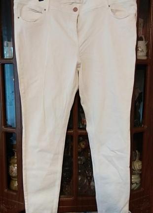 Белые скини большого размера 52-54р.