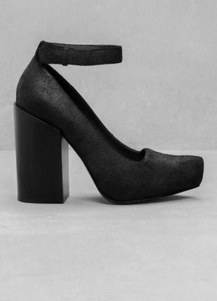 Кожаные,замшевые туфли новые,широкий каблук & other stories