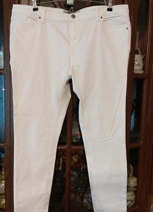 Белые скини большого размера 52р.