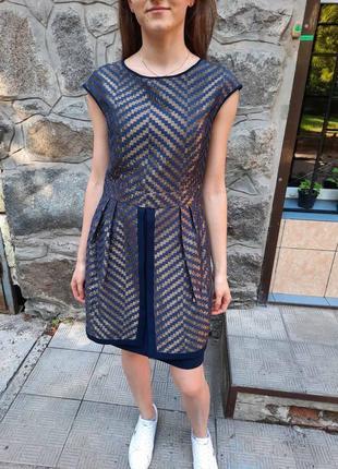 Вечернее женское мини платье с юбкой баской gipsy