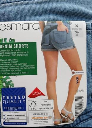 Женские джинсовые шорты esmara 38 германия
