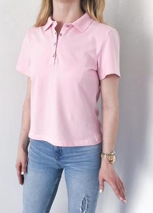 Поло футболка рожева як нова топ качество