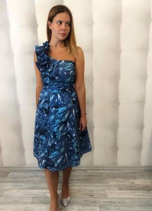 Красивейшее дизайнерское платье миди  на одно плечо от john rocha