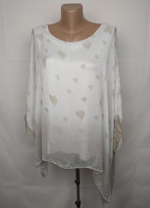 Блуза шелковая красивая итальянская