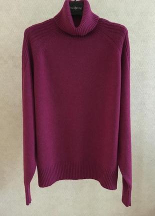 Шерстяной свитер с высоким горлом m&s collection