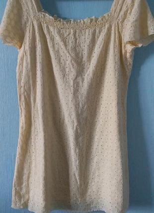 Натуральное летнее платье из прошвы