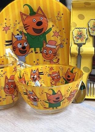 Детская посуда 3 кота