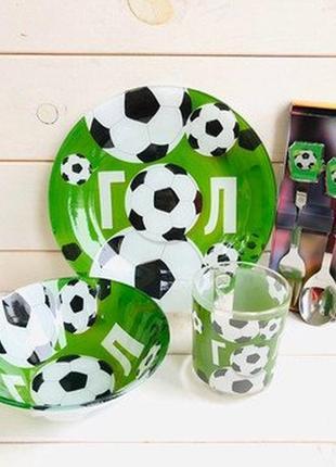 Детская посуда футбол