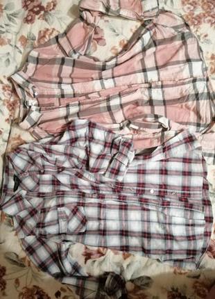 Рубашки в клетку s-m