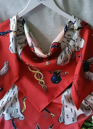 Шелковый авторский платок каре  en soiе  как hermes