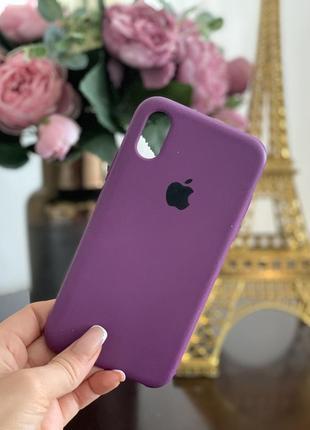 Чехол на iphone x/xs в цвете баклажан silicone case