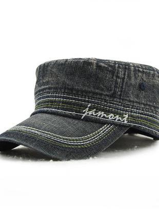 Кепка немка джинсовая