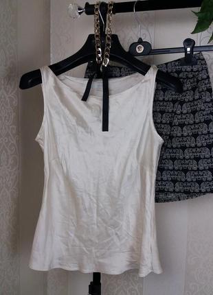 Майка в бельевом стиле шелк блуза шовкова