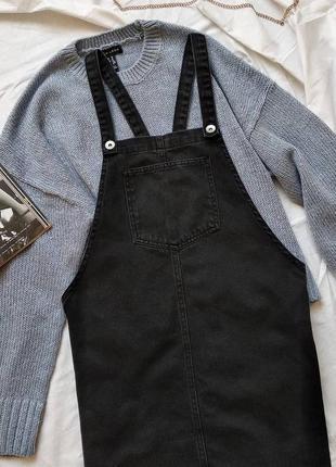 Джинсовий сарафанчик чорного кольору
