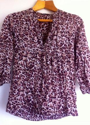Блуза,кофта ,леопардовый принт, oodji ultra