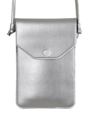 Сумочка-чехол на ремешке red point pouch универсальный silver