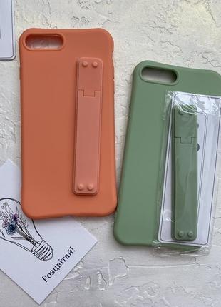 Чехол iphone 7+ 8+ силиконовый с держателем