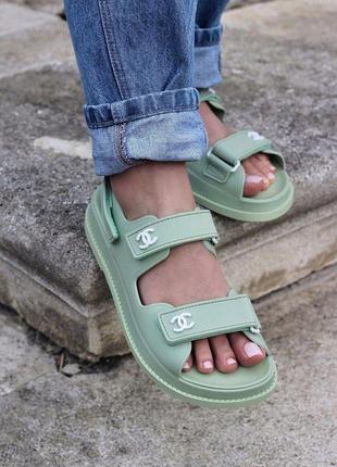 Босоножки chanel sandal mint  код -  861