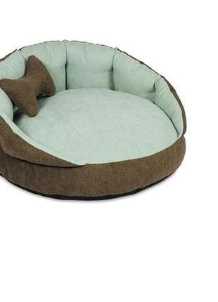 Лежак шарм, мягкое место для кошки, собаки коричневый/мята