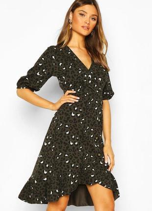 Новое платье в леопардовый принт и актуальными пуговицами