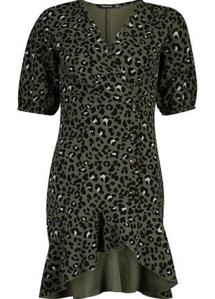 Новое платье в леопардовый принт и актуальными пуговицами3 фото