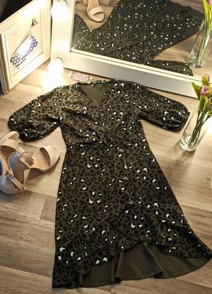 Новое платье в леопардовый принт и актуальными пуговицами4 фото