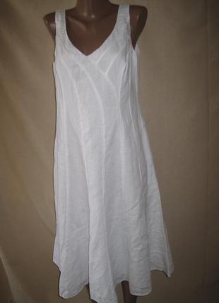 Льняное платье per una р-р14-16