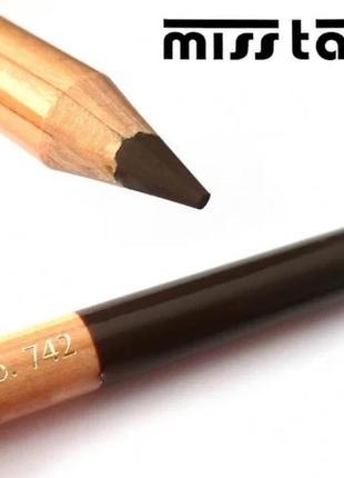 Карандаш для бровей miss tais №742 коричневый мисс таис чехия