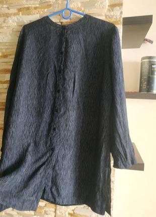 Удлиненная блуза на пуговицах с разрезами рубашка