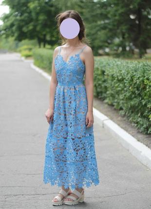 Кружевное вечернее платье в стиле asos