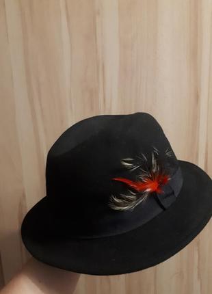 Шляпа чёрная шерсть