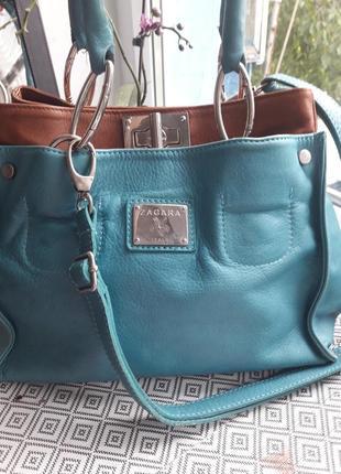 Кожаная сумка zagara ,италия