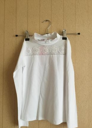 Нарядная блуза для девочки на рост 122-128,134-140