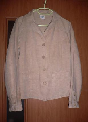 """Льняной идеальный пиджак """"columbia"""" 46 размер"""