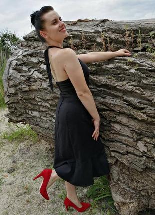 Льняне чорне плаття