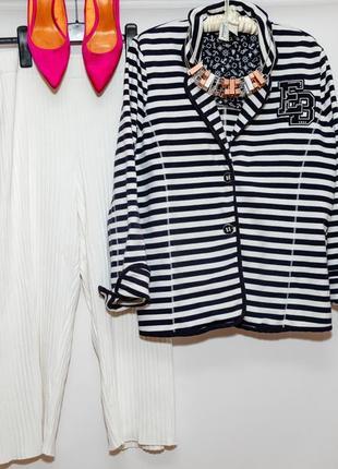 Трикотажный пиджак marine style